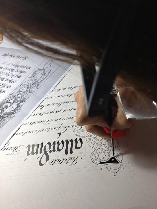 corso di calligrafia, Barbara Calzolari, Fondazione Aldini Valeriani