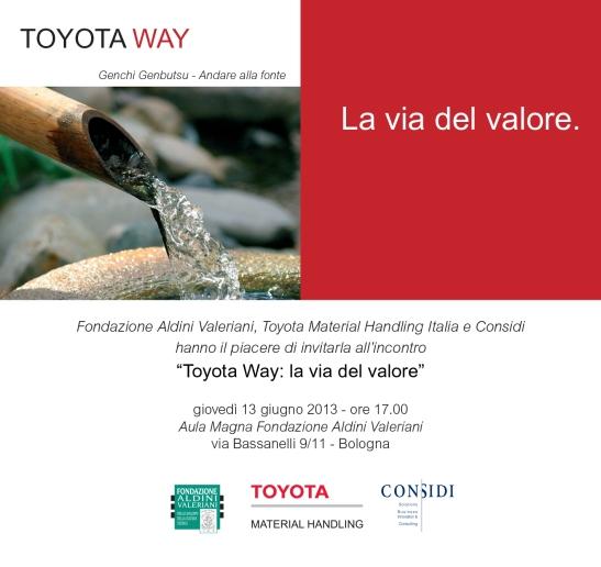 Toyota Way, La via del valore, 13Giugno 2013